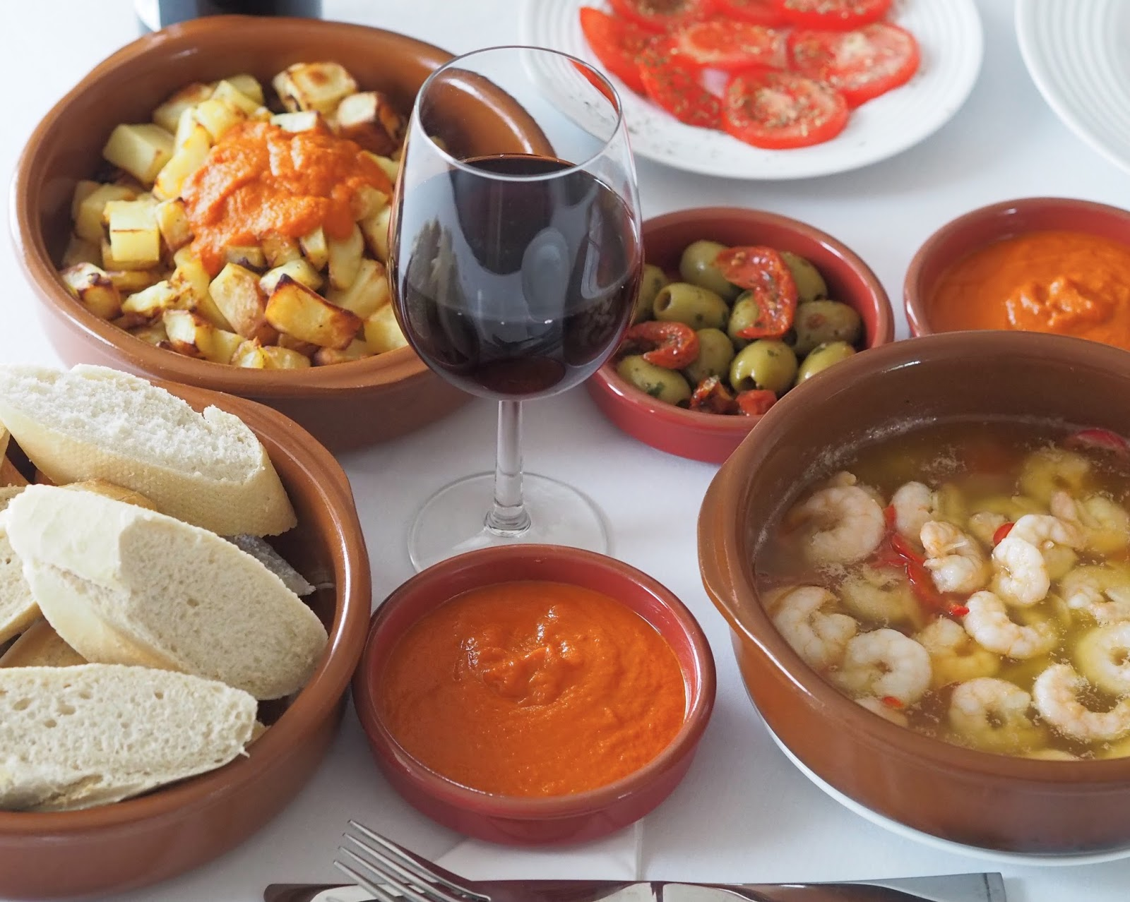 Spain \ dining in \ tapas \ rioja \ Spanish food \ prawn pil pil \ Priceless Life of Mine \ over 40 lifestyle blog