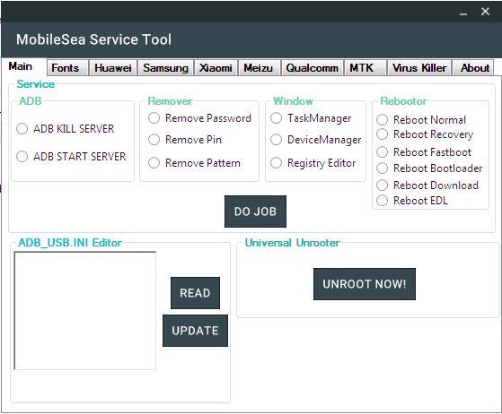 MobileSea Service Tool Free