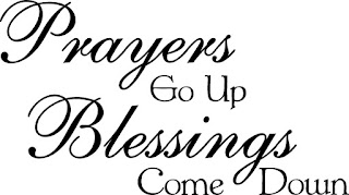 Quotes About Life And Happiness Tumblr: prayers go up blessings come doen