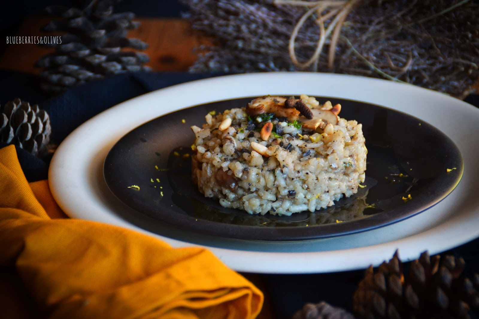 MUSHROOM, PINE NUT AND TRUFFLE RISOTTO