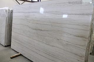 White macaubas quartzite slabs for countertops
