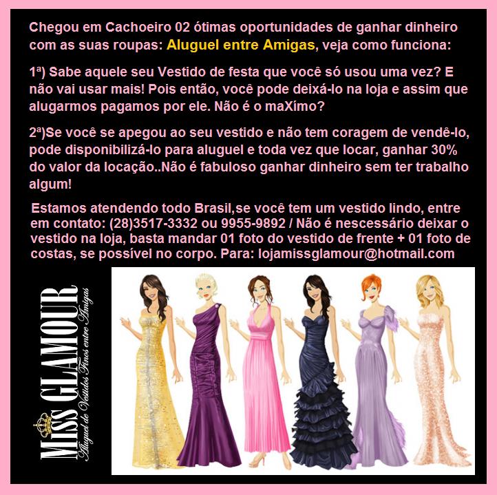 2b98fb1d3d70 Miss Glamour - Aluguel e vendas de vestidos entre Amigas - Cachoeiro de  Itapemirim