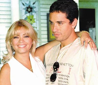 Foto de Gisela Valcárcel y su ex pareja