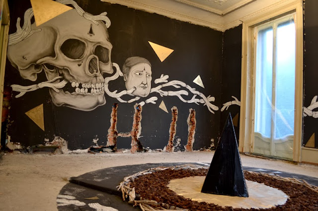 Italian Street Artist Newest Indoor Installation In Lugano, Switzerland For The Art Of Memory Project. 3