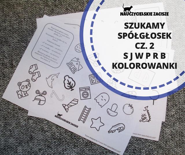 kolorowanki literkowe spółgłoski litery głoskowanie karty pracy