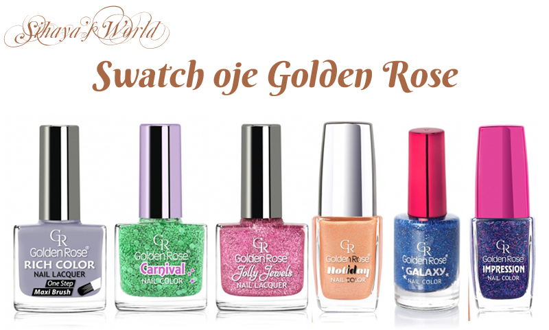 oje golden rose swatch