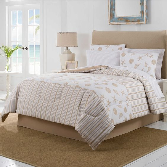 Beige Sea Shell Bedding