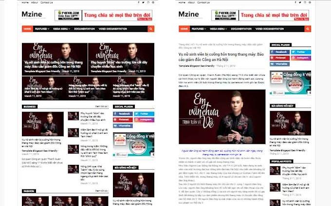 Mzine Template Blogpost 2019 - Giao Diện Trang Cá Nhân Tuyệt Vời