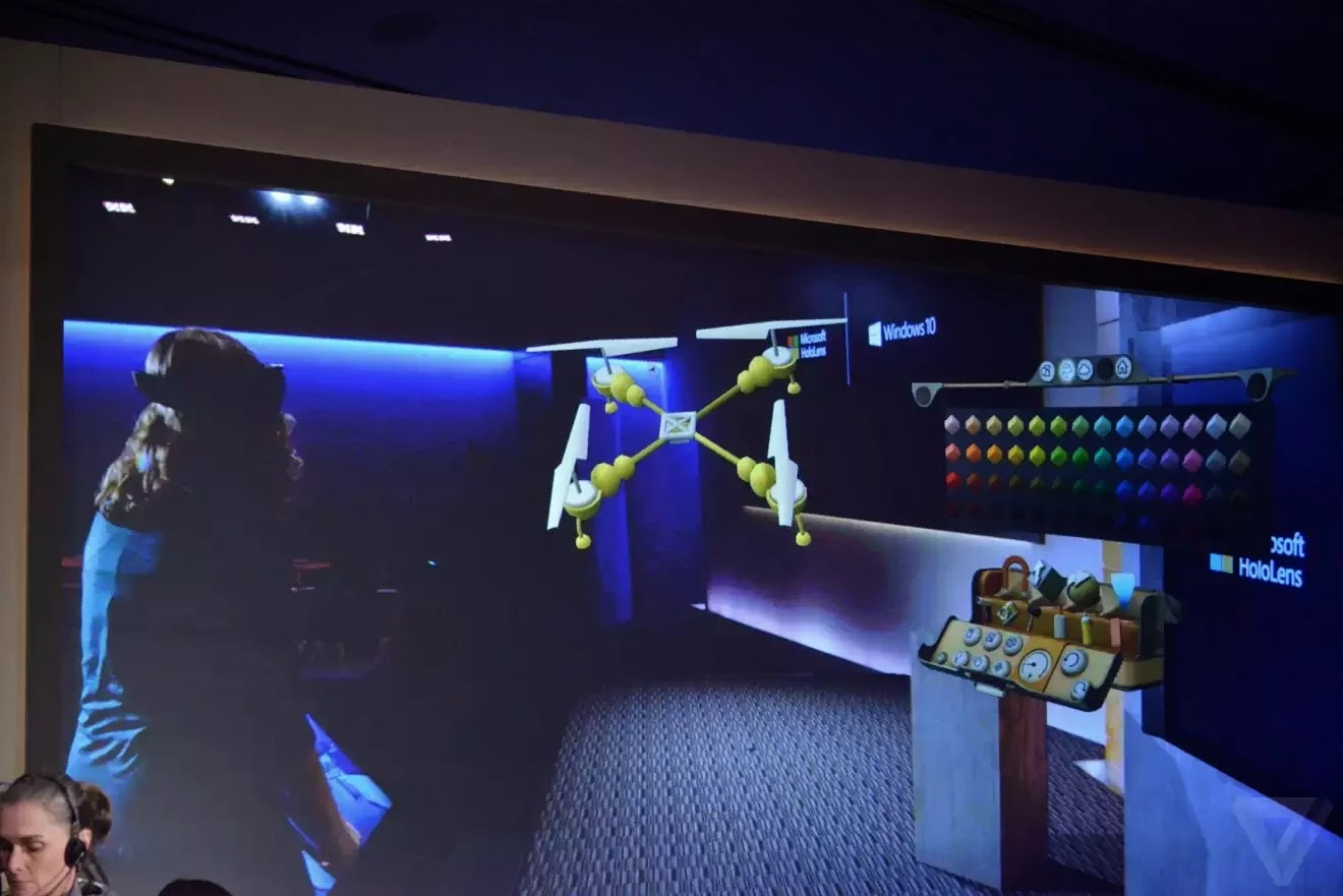 Thiết kế mô hình máy bay bằng HoloLens