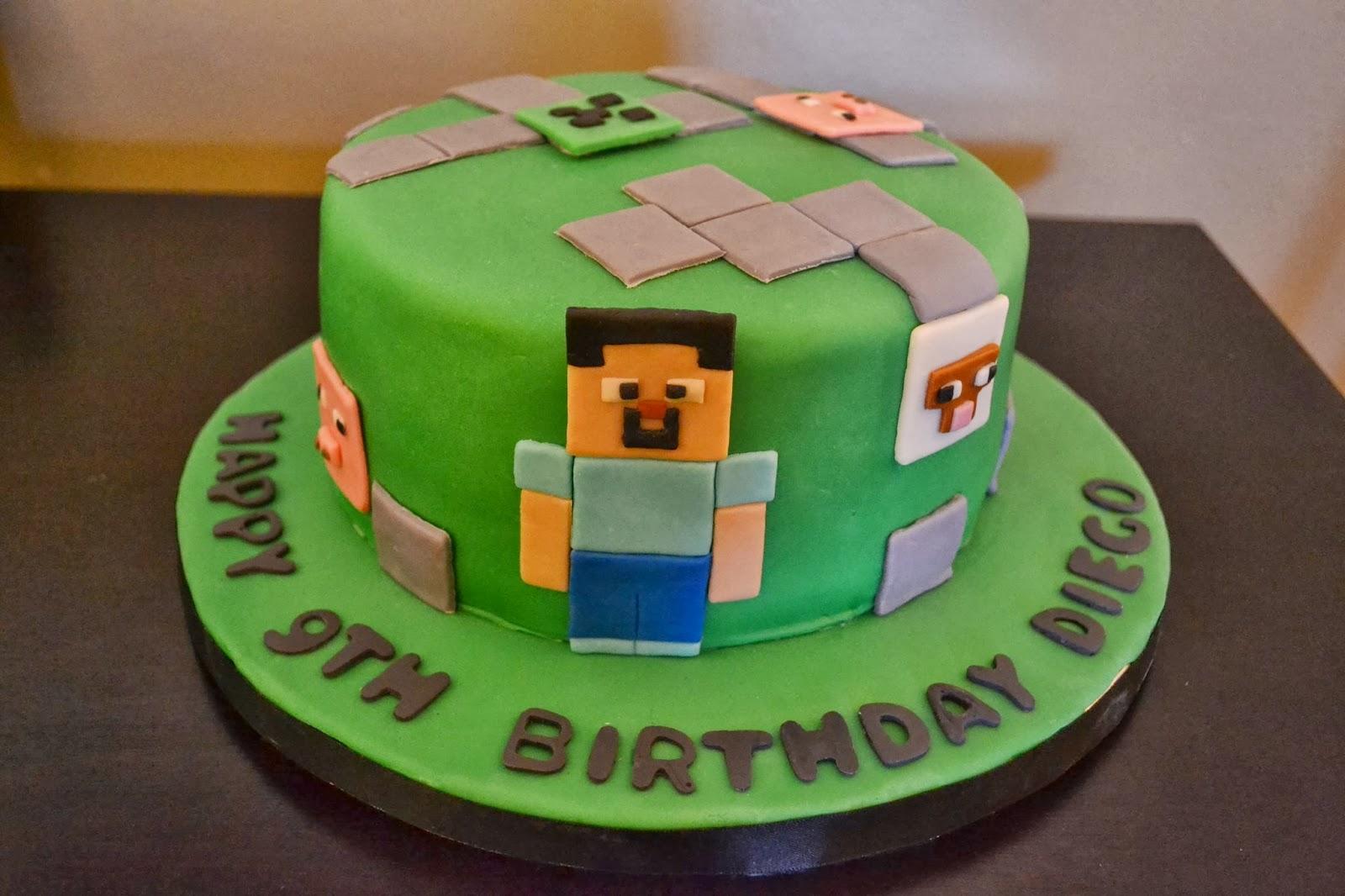 детский торт майнкрафт #4