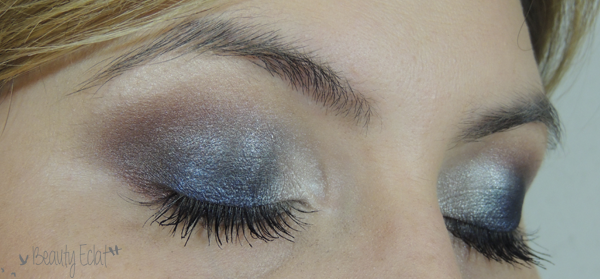 tutoriel maquillage bleu taupe
