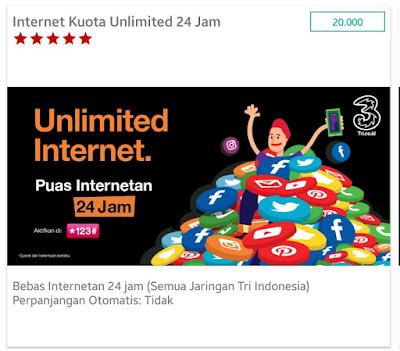 4 Paket Unlimited Tri Tanpa Batas Kuota yang Bisa Anda Beli