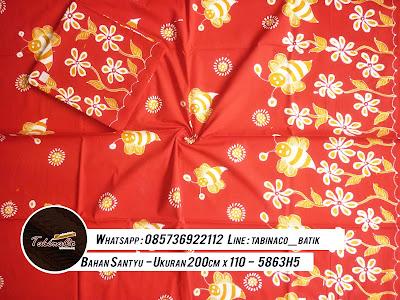 batik sarimbit - bahan santyu - ukuran 200cm x 110cm