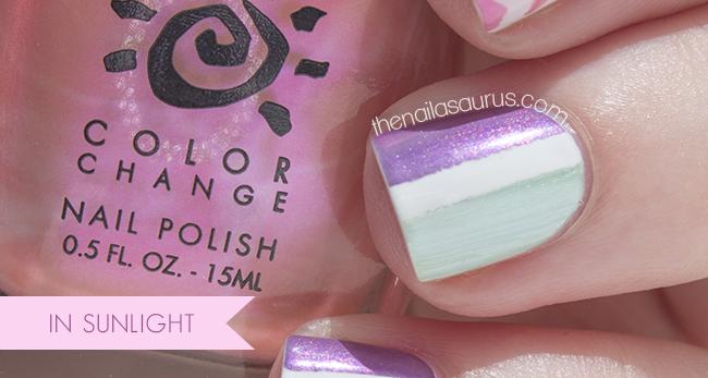 Disappearing Nail Art Del Sol Colour Change Nail Polish The Nailasaurus Uk Nail Art Blog