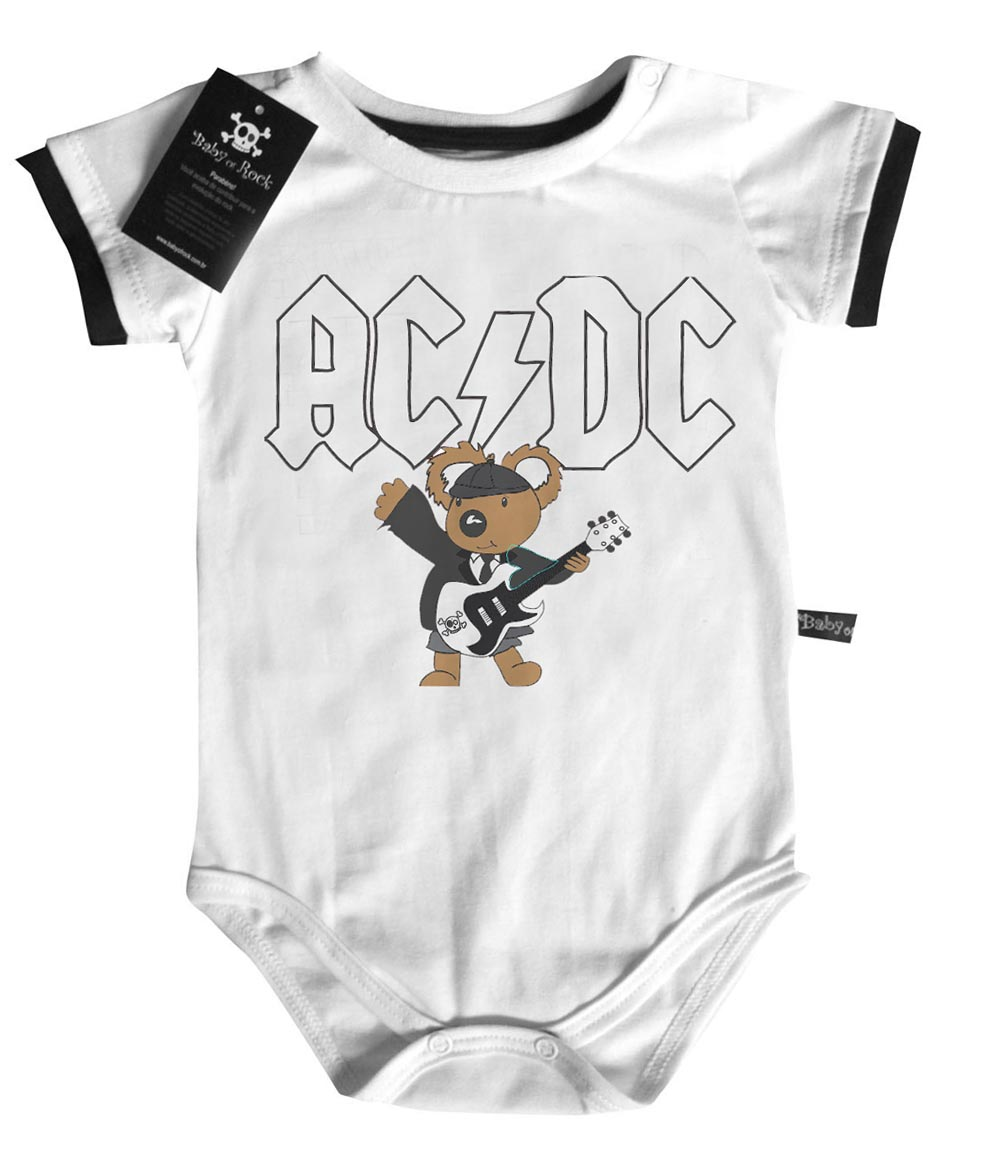 Body de Rock Para Bebês  Body de rock Bebe 96b21953878