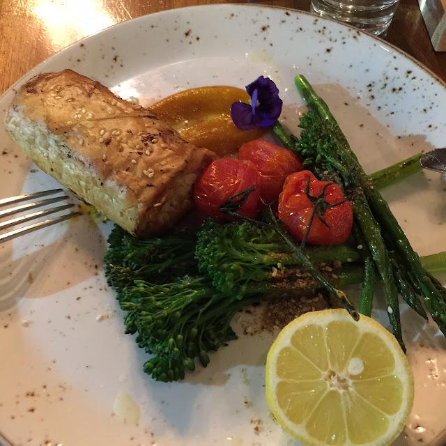 V Series, Kew, mushroom filo pastry