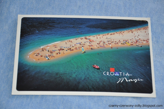 Pocztówkowa podróż dookoła świata: Chorwacja- wyspa Brač. Plaża Zlatni Rat. #1