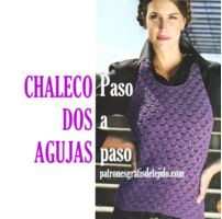 Chaleco dos agujas tutorial