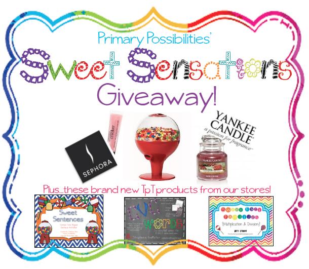 Primary Possibilities: Sweet Sensations Giveaway!