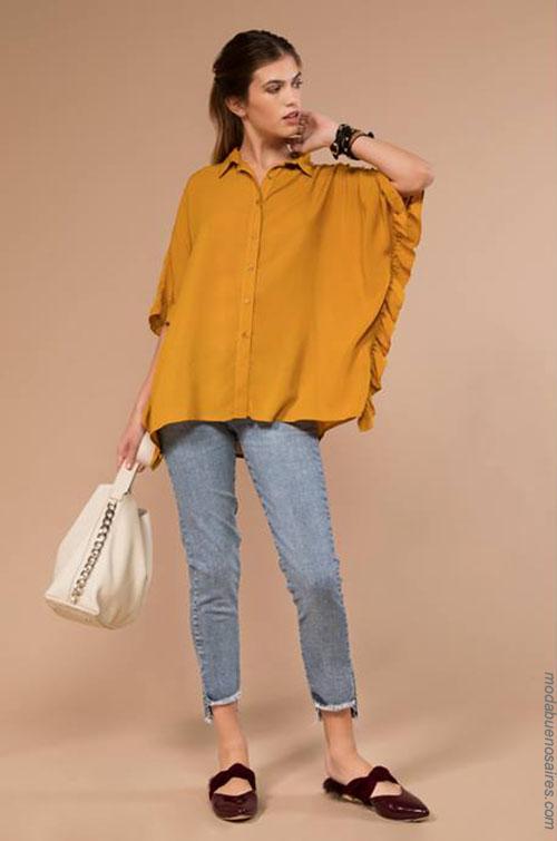 Moda camisas y blusas de mujer invierno 2018.