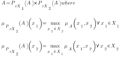 Condition for fuzzy set to be separable into orthogonal projections