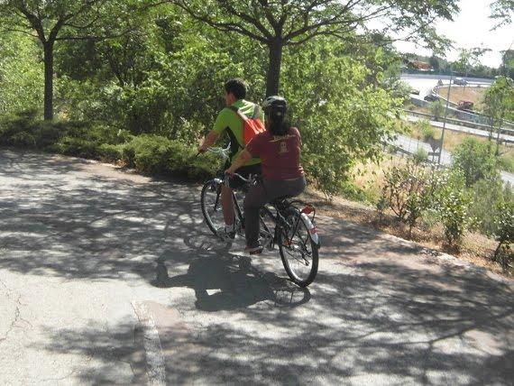 tandem en el anillo ciclista de madrid