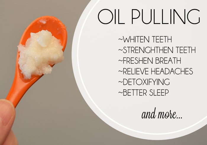 DIY Teeth Whitening Oil Pulling Benefits Orange Spoon Teeth Whitener Fresh Breath Headaches Better Sleep