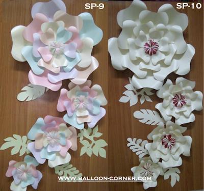 Paper Flower / Bunga Kertas (Paket SP-09 & Paket SP-10)