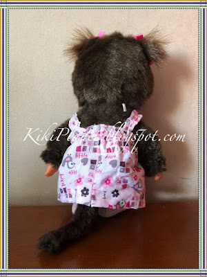 kiki monchhichi robe dress handmade couture fait main