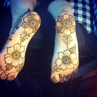 Mehendi Designs on Soles