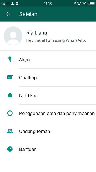 Mengganti background chat whatsapp dengan foto pribadi
