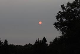 an August full moon