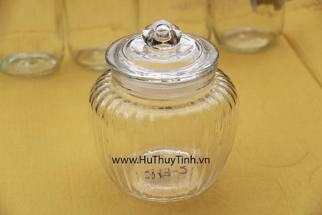 Hũ thủy tinh 1 lít đựng gia vi ngam mat ong