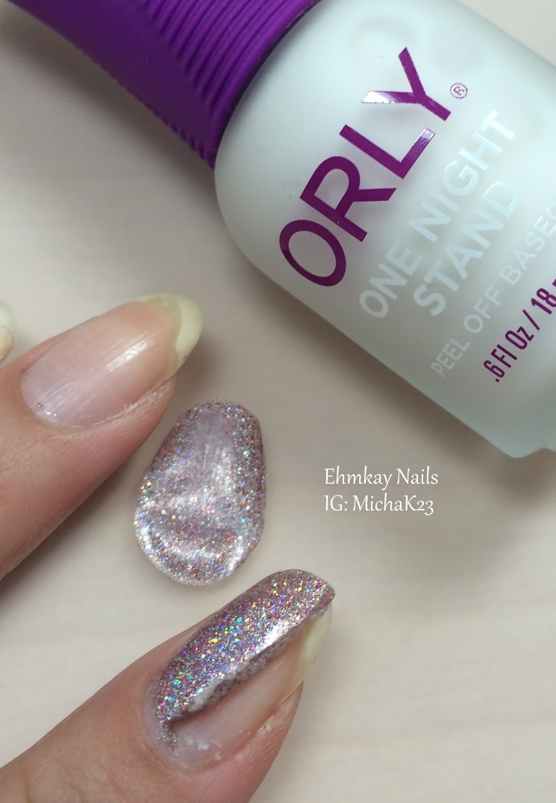 One Nail To Rule Them All A Bit Too Much Neon: Ehmkay Nails: ORLY One Nail Stand Peel Off Base Coat Wear