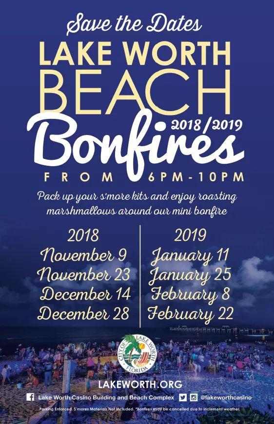 Lake Worth Christmas Parade 2020 Lake Worth Beach City Limits: Beach Bonfires at the Lake Worth