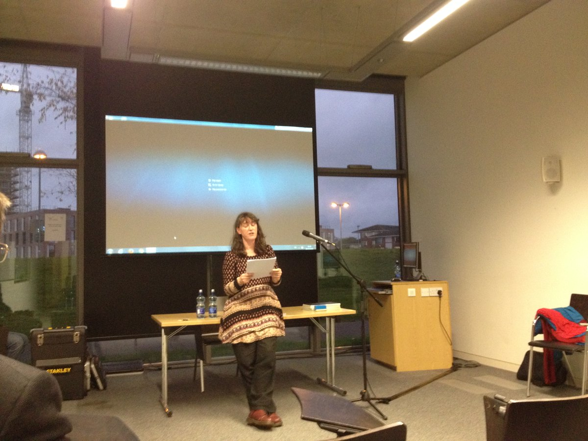 Reading from new work at Maynooth Uni