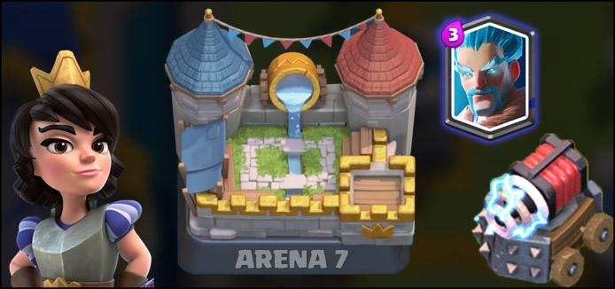 Deck para Arena 7 com Princesa, Sparky e Mago de Gelo - 1
