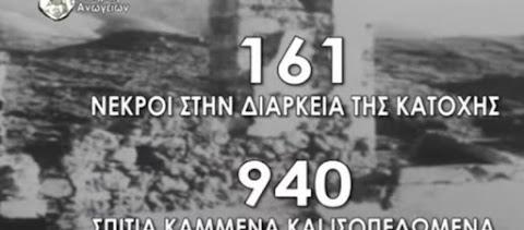 Ολοκαύτωμα Ανωγείων: Το βίντεο που προβάλλεται στις οθόνες των σταθμών του μετρό της Αθήνας (βίντεο)
