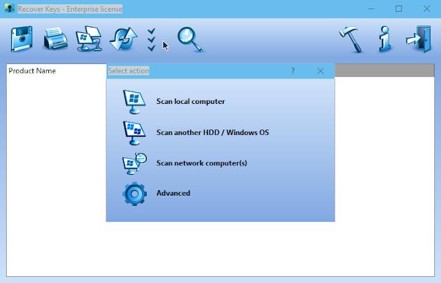 Hướng dẫn sử dụng phần mềm Recover Keys trong Windows 10 PE