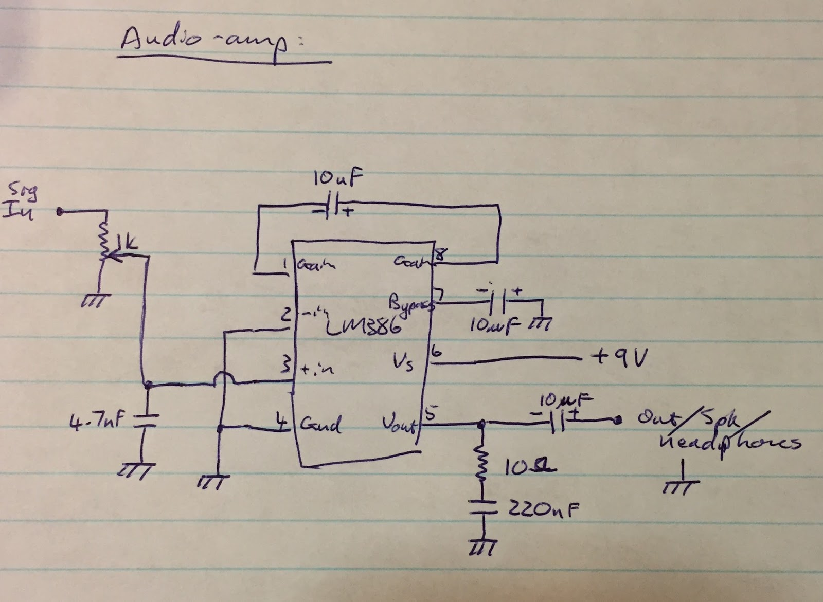 Zs6svj Re Need A Simple Low Power Preamp Circuit For Electret Microphone I Made An Input Each And They Can All Go Straight Into The Main Audio Amplifier Like So