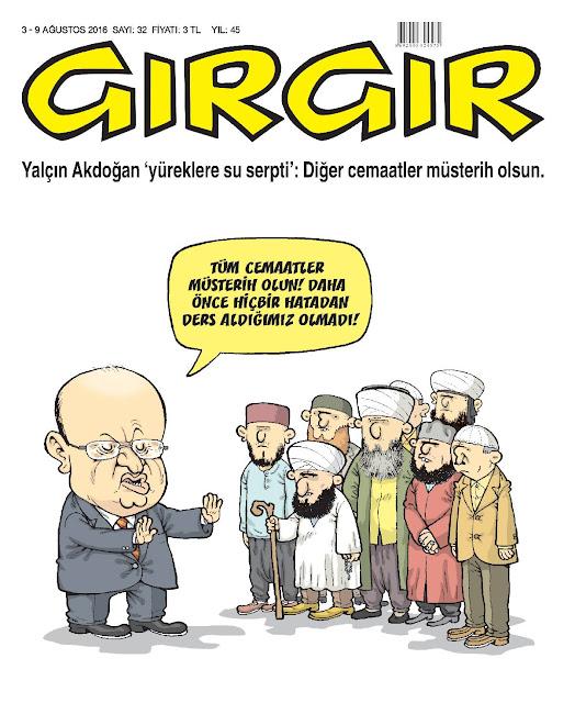 Gırgır Dergisi - 3-9 Ağustos 2016 Kapak Karikatürü