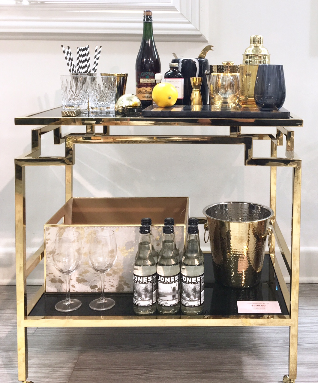 Homesense - the art of entertaining - harlow and thistle - bar cart