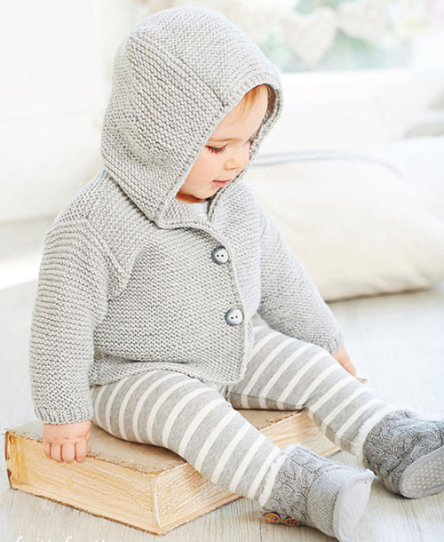 Beautiful Skills Crochet Knitting Quilting Baby Hooded Jacket