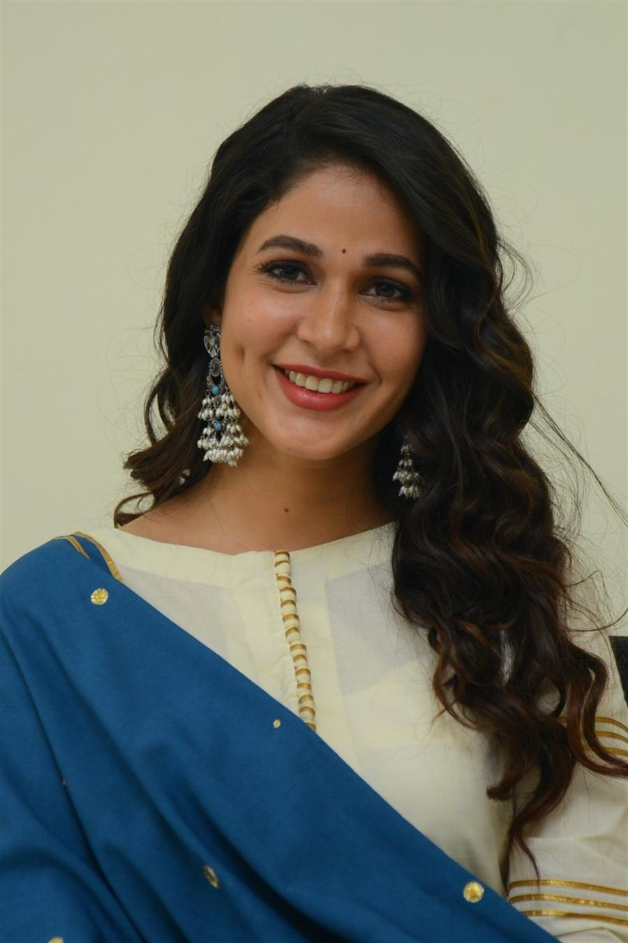 Indian Actress Lavanya Tripathi at Telugu Movie Interview