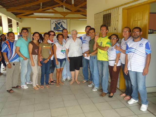 Resultado de imagem para fotos de irma iva com professores no mauricio freire blog de silverio alves