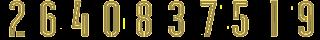 16 Kit Numbers Puma 2017