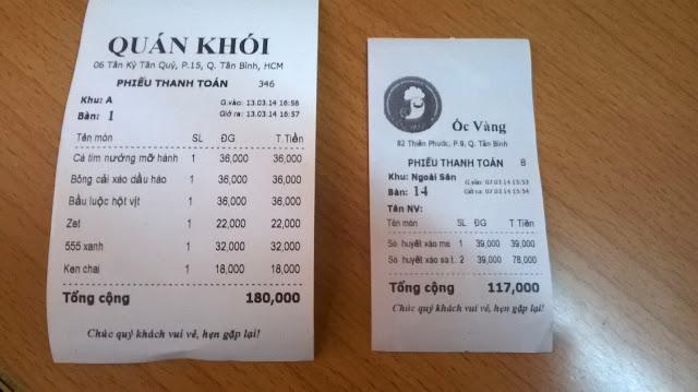 Máy in hóa đơn thanh toán cho quán trà sữa