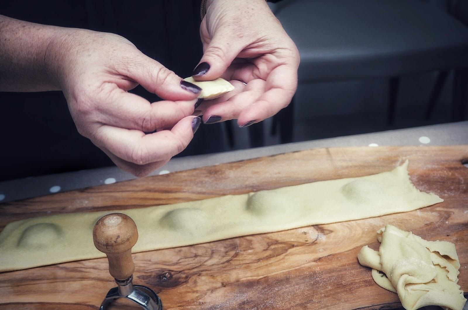 Italian ravioli crafting
