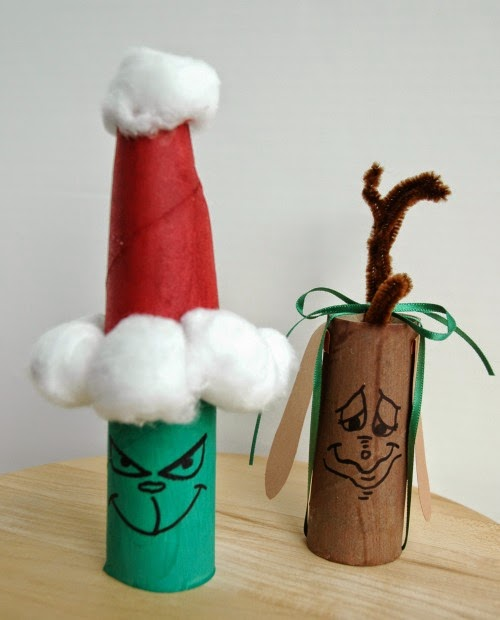 The Grinch and Max the Dog Craft for kids for Christmas