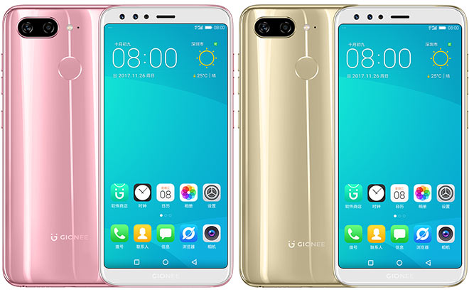 Gionee S11 Color variations